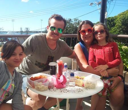 Spanish Family learning English at AICOL language school