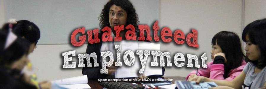 TESOL guaranteed_employment