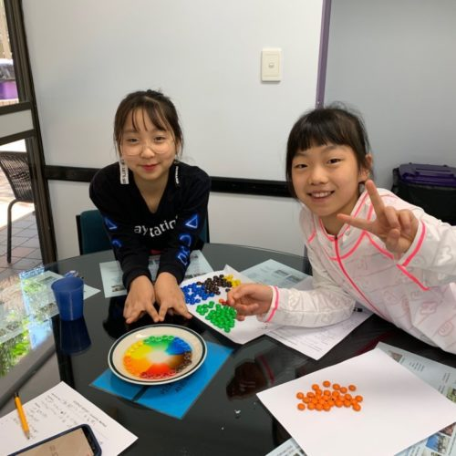 Rainbow experiment in Kids English and science class at AICOL